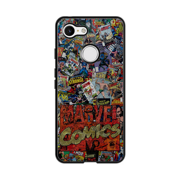 Marvel Comics Super Herro Google Pixel 3 XL Case | Frostedcase