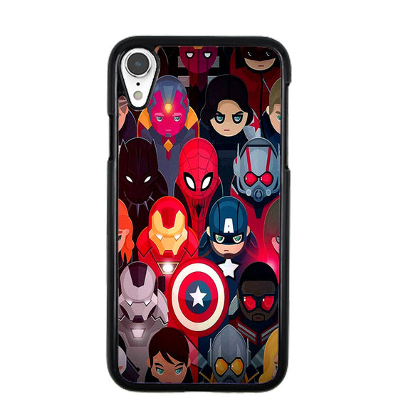 Marvel Super Heroes Collection iPhone XR Case | Frostedcase
