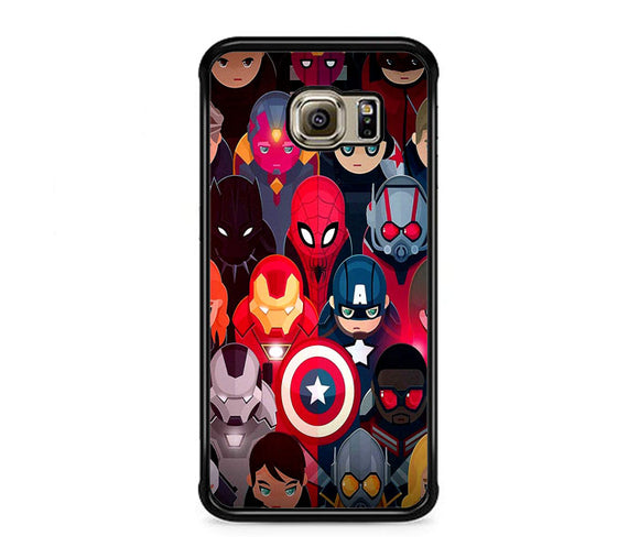 Marvel Super Heroes Collection Samsung Galaxy S6 EDGE Case | Frostedcase