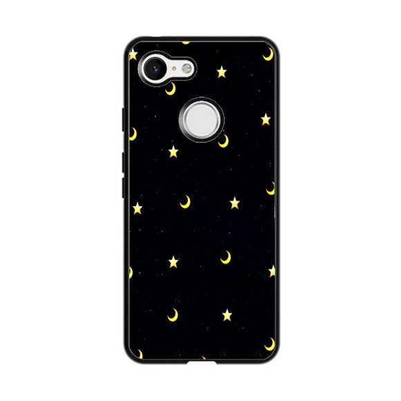 Moon And Star Pattern Google Pixel 3 Case | Frostedcase