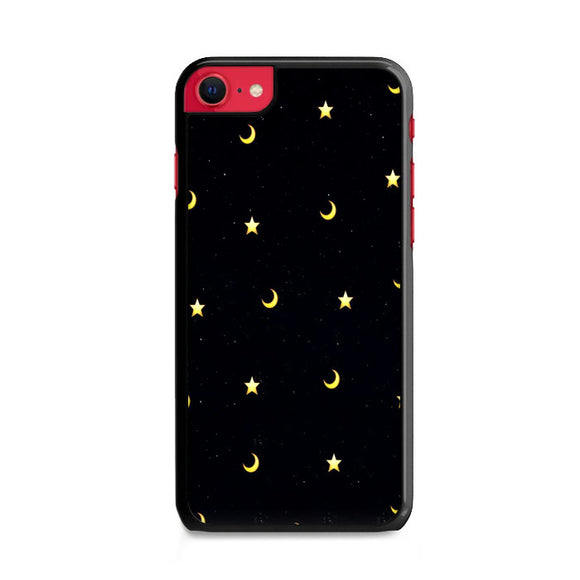 Moon And Star Pattern iPhone SE Case | Frostedcase