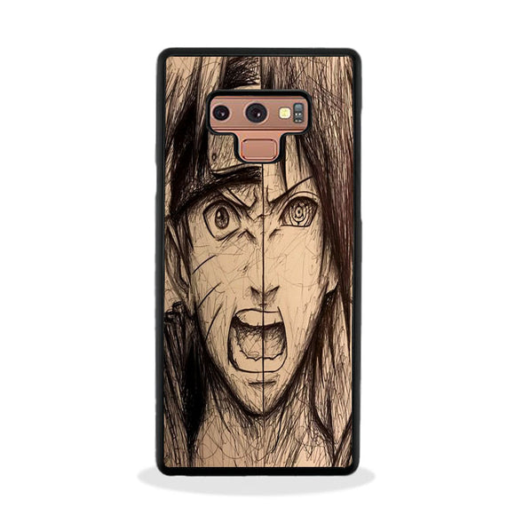 Naruto And Sasuke Drawing Ideas Samsung Galaxy Note 9 Case | Frostedcase