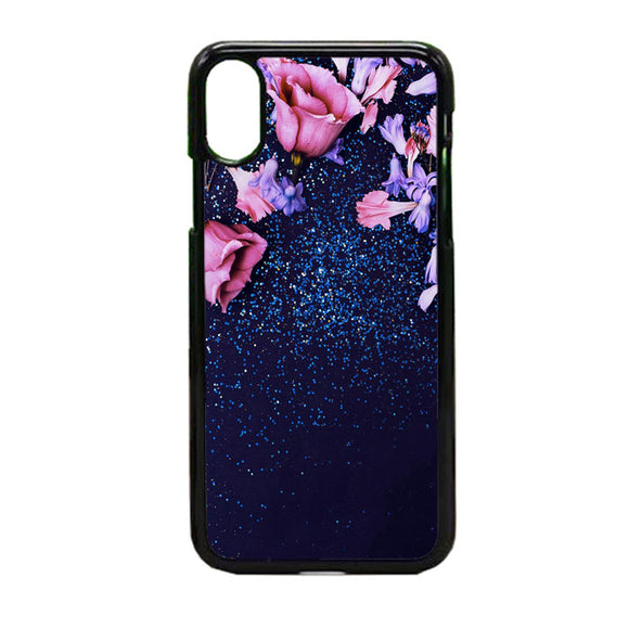 Nature Morning Dew Leaf Flower Rain Flare iPhone X Case | Frostedcase