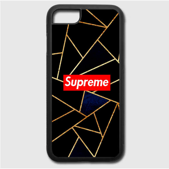 Navy Blue And Gold iPhone 7 Case | Frostedcase