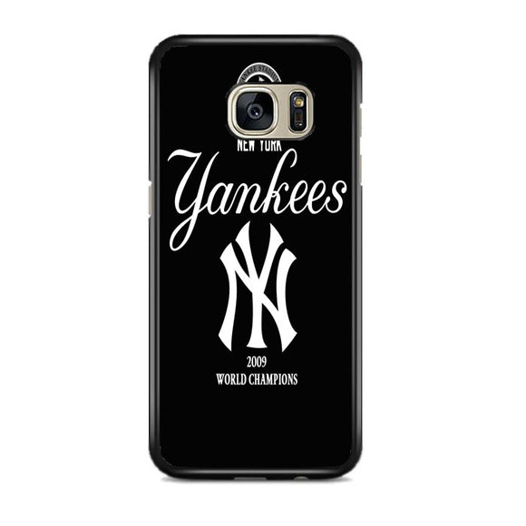 New York Yankees Black Samsung Galaxy S7 EDGE Case | Frostedcase