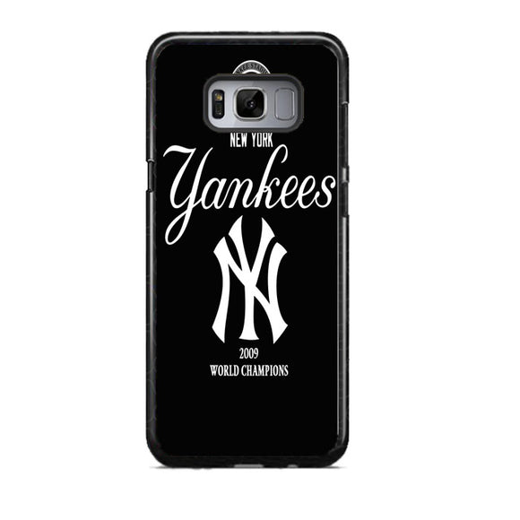 New York Yankees Black Samsung Galaxy S8 Case | Frostedcase