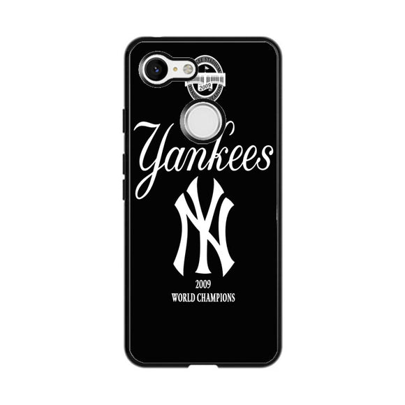 New York Yankees Black Google Pixel 3 Case | Frostedcase