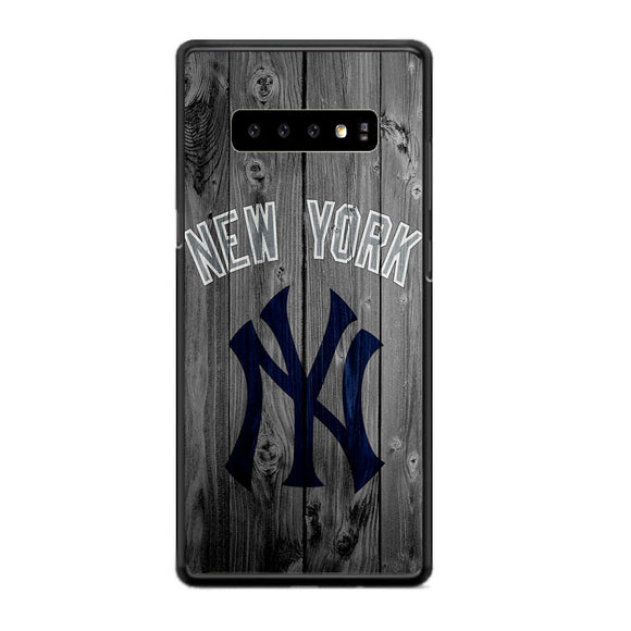 New York Yankees Baseball Wood Samsung Galaxy S10 Case | Frostedcase