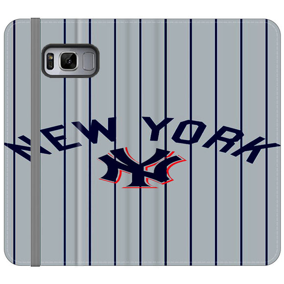 New York Yankees Jersey Samsung Galaxy S8 Plus Flip Case | Frostedcase