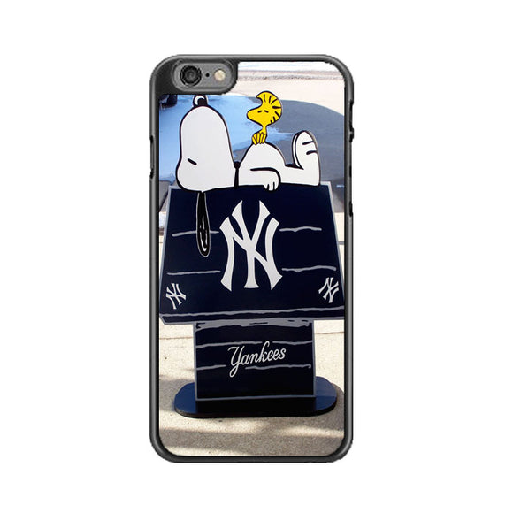 New York Yankees Logos And Uniforms Snoopy iPhone 6 Plus|6S Plus Case | Frostedcase
