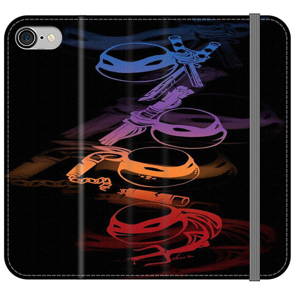 Ninja Turtles Silhouette Color iPhone 7 Flip Case | Frostedcase