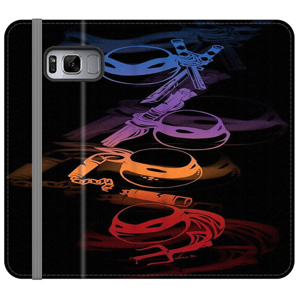 Ninja Turtles Silhouette Color Samsung Galaxy S8 Flip Case | Frostedcase