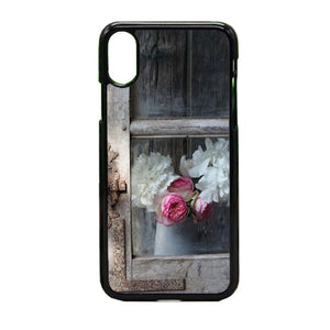 Old Window With Flowers iPhone X Case | Frostedcase