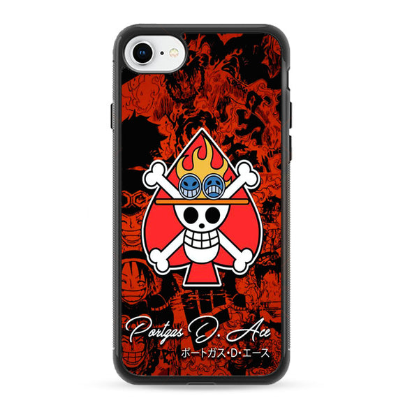 One Piece Ace Portgas iPhone 8 Case | Frostedcase