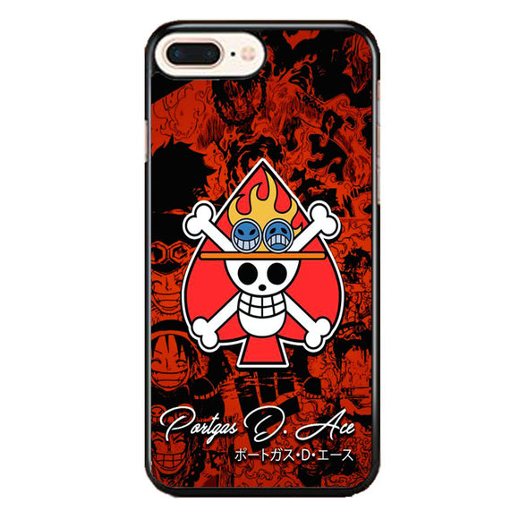 One Piece Ace Portgas iPhone 8 Plus Case | Frostedcase