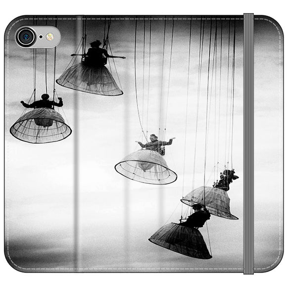 Opera Doll Hanging Black White iPhone 8 Flip Case | Frostedcase