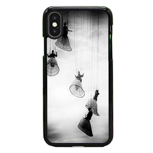 Opera Doll Hanging Black White iPhone X Case | Frostedcase