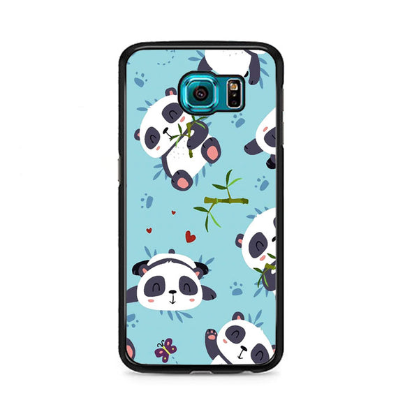 Panda Cute Wallpaper Art Samsung Galaxy S6 Case | Frostedcase