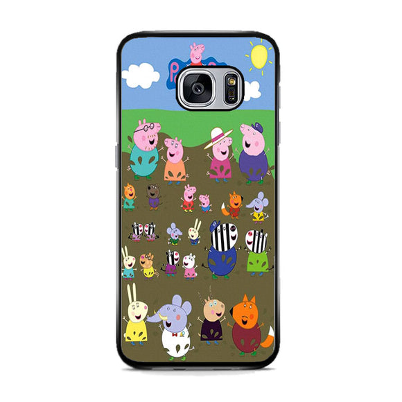 Peppa Pig Character In The Rice Field Samsung Galaxy S7 Case | Frostedcase