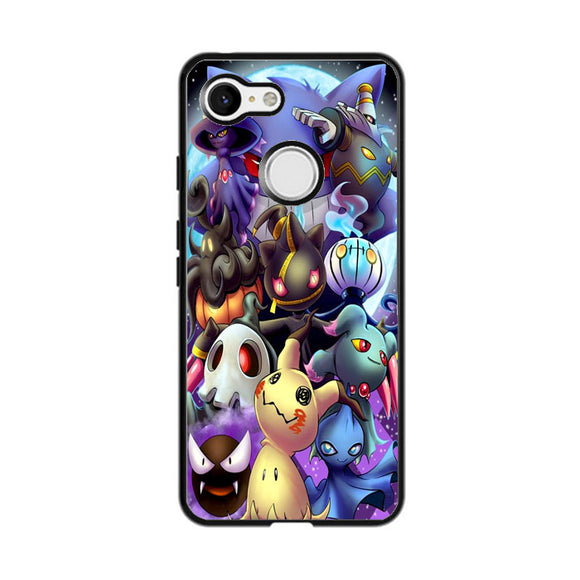 Pikachu And Pokemon Night Doodle Google Pixel 3 XL Case | Frostedcase