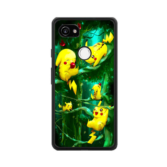 Pikachu Collection In The Forest Google Pixel 2 Case | Frostedcase