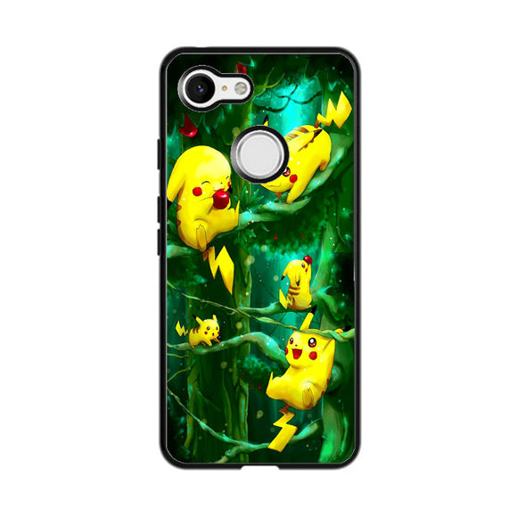 Pikachu Collection In The Forest Google Pixel 3 XL Case | Frostedcase