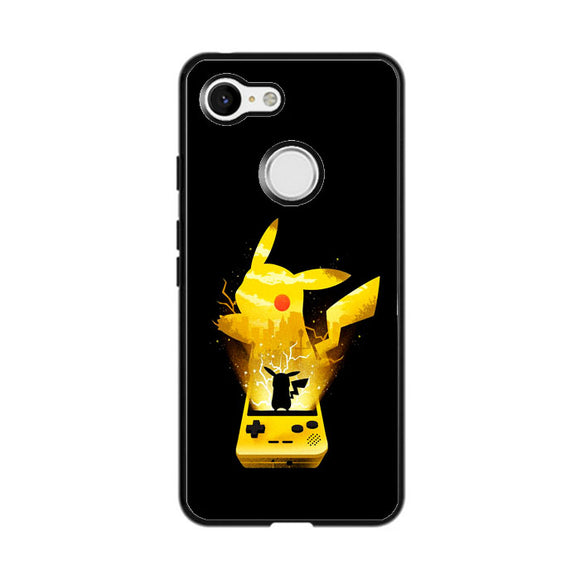 Pikachu Out Of Gameboy Google Pixel 3 Case | Frostedcase