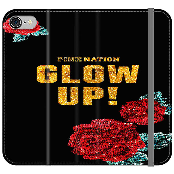 Pink Nation iPhone 8 Flip Case | Frostedcase