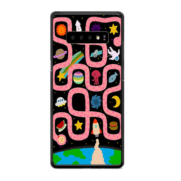 Planet Dan Astronot Game Samsung Galaxy S10 Case | Frostedcase