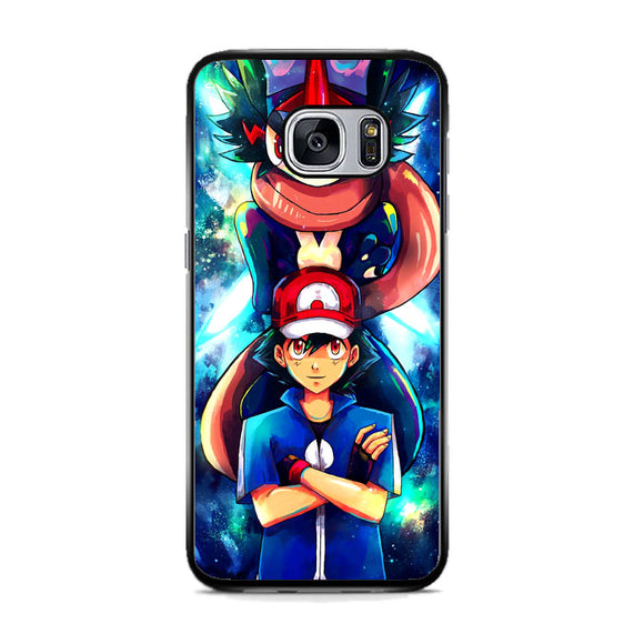 Pokemon And Ash Samsung Galaxy S7 Case | Frostedcase