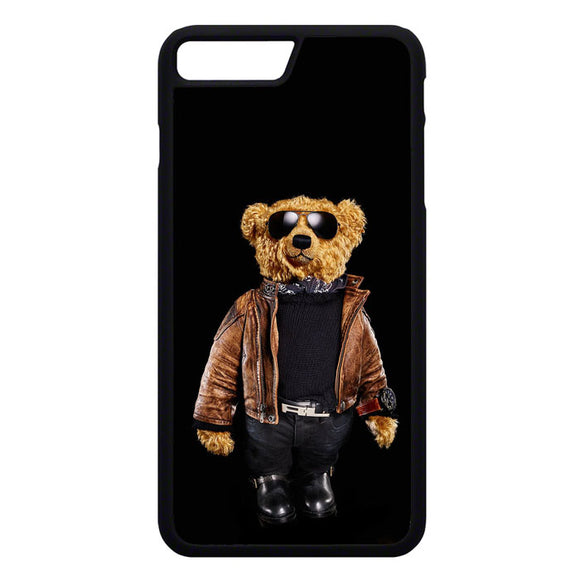 Polo Bear Black iPhone 7 Plus Case | Frostedcase
