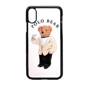 online store b3d05 b917b Polo Bear White Suit iPhone X Case | Frostedcase