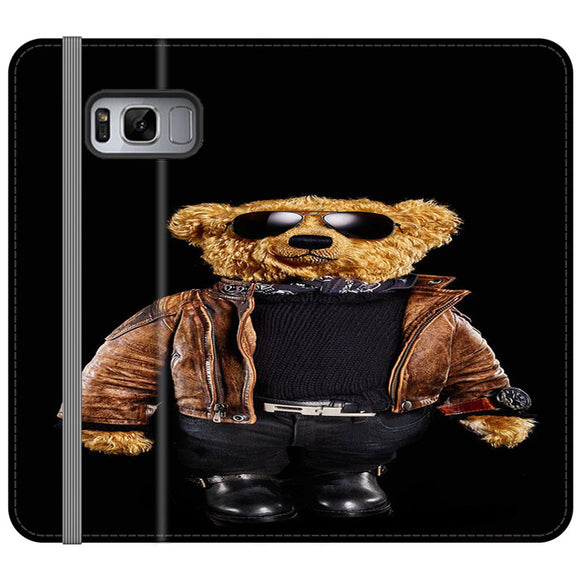 Polo Bear Black Samsung Galaxy S8 Flip Case | Frostedcase