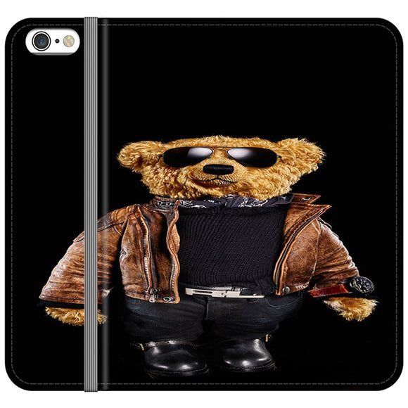 Polo Bear Black iPhone 6 Plus|6S Plus Flip Case | Frostedcase