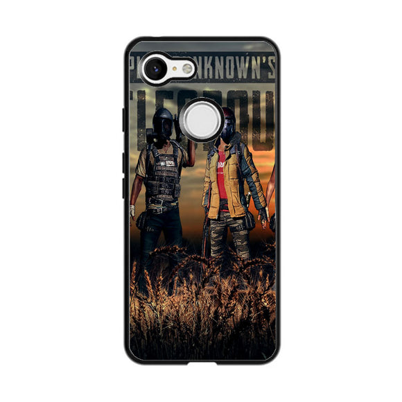 Pubg Playerunknowns Battlegrounds Characters Google Pixel 3 XL Case | Frostedcase