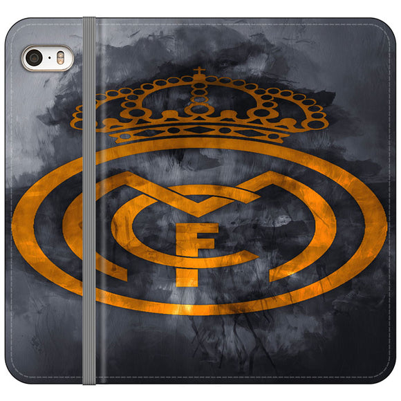 Real Madrid Logo Art iPhone 5|5S|SE Flip Case | Frostedcase