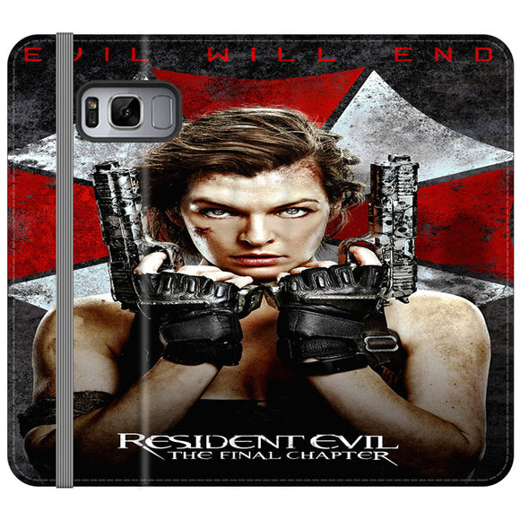 Resident Evil The Final Chapter Samsung Galaxy S8 Flip Case | Frostedcase