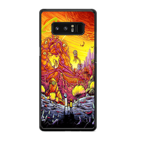 Rick And Morty World Full Colour Samsung Galaxy Note 8 Case | Frostedcase
