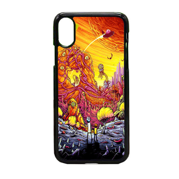 Rick And Morty World Full Colour iPhone XS Max Case | Frostedcase