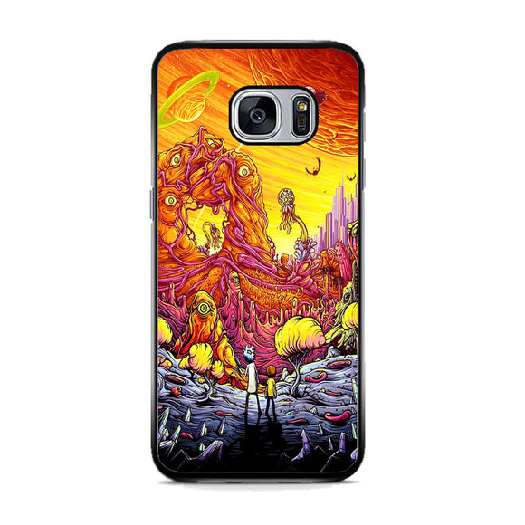 Rick And Morty World Full Colour Samsung Galaxy S7 Case | Frostedcase