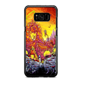 wholesale dealer 70516 2c717 Rick And Morty World Full Colour Samsung Galaxy S8 Plus Case | Frostedcase