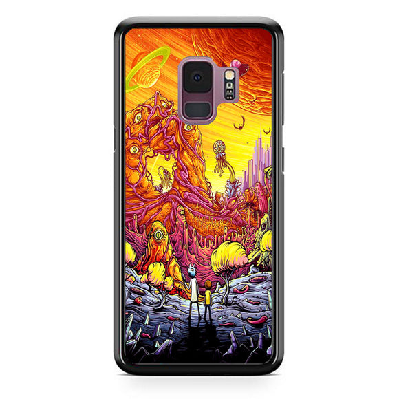 Rick And Morty World Full Colour Samsung Galaxy S9 Case | Frostedcase