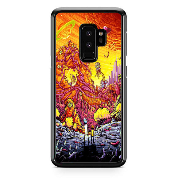 Rick And Morty World Full Colour Samsung Galaxy S9 Plus Case | Frostedcase