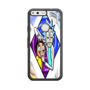 Rick And Morty Diamond Metal Google Pixel Case | Frostedcase