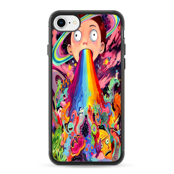 Rick And Morty Psychedelic iPhone 8 Case | Frostedcase
