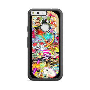 factory authentic 58c50 9f648 Rick And Morty Skateboard Art Google Pixel Case   Frostedcase