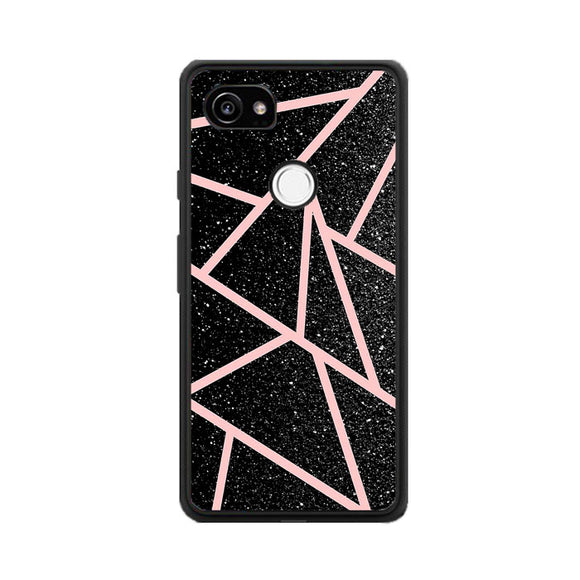 Rose Gold And Black Gliter Google Pixel 2 XL Case | Frostedcase