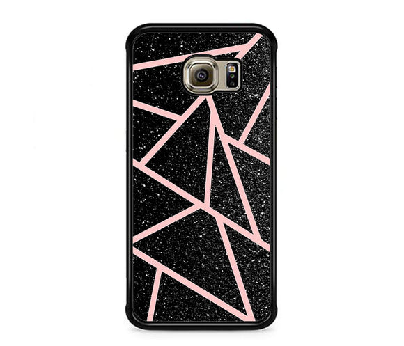 Rose Gold And Black Gliter Samsung Galaxy S6 EDGE Case | Frostedcase