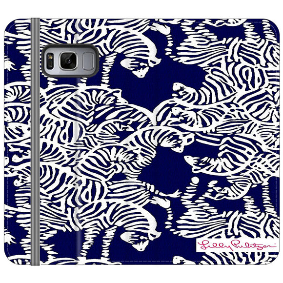 Safari Zebra Pattern Vineyard Vines Samsung Galaxy S8 Flip Case | Frostedcase