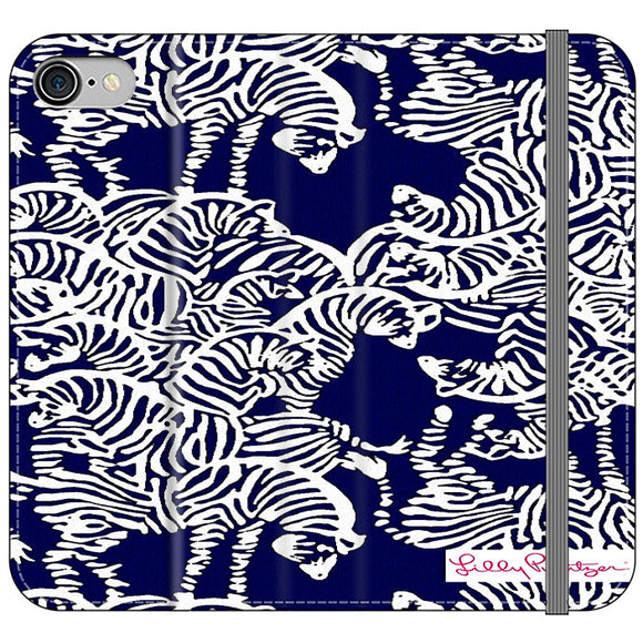 Safari Zebra Pattern Vineyard Vines iPhone 7 Flip Case | Frostedcase